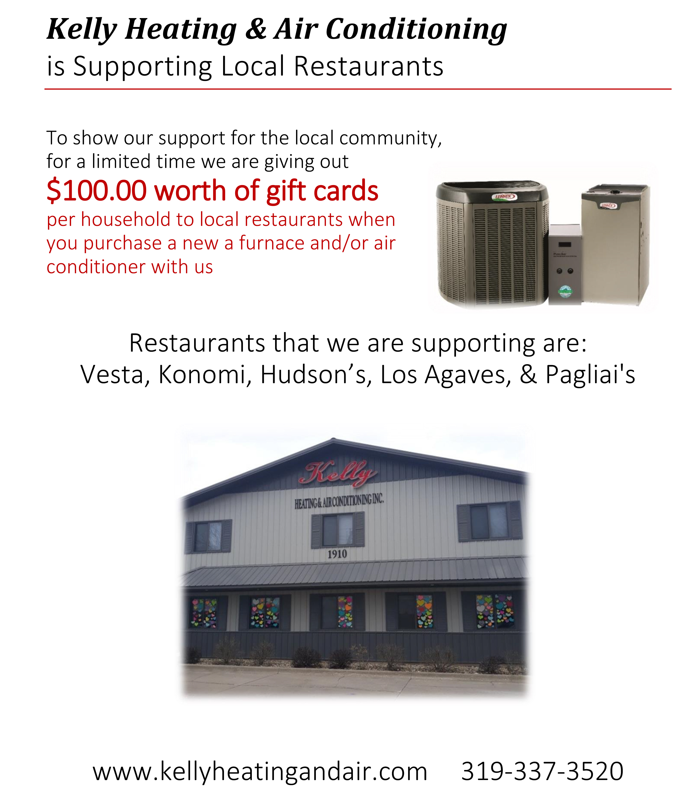 Kelly Heating Is Supporting Local Restaurants